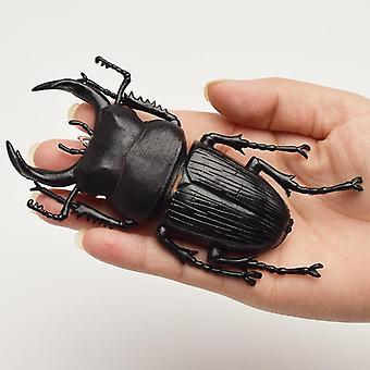 13cm Simulation Beetle  Insect Toy Nursery Teaching Aids Joke