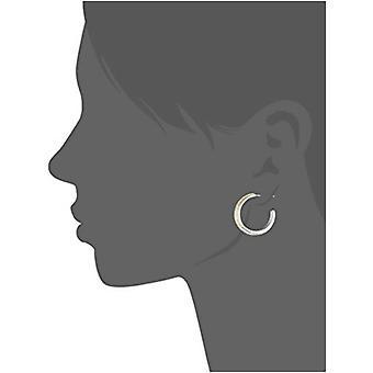 Tri-Tone Plated Bronze Diamond Accent C-Hoop, Multi-Colored, Size No Size