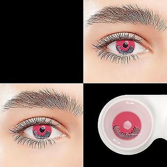 Pari vaaleanpunaisia linssejä Anime Tarvikkeet Väri, Silmien piilolinssit