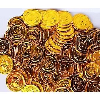 Plastic Gold Coins Props
