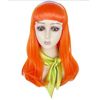 Scooby-doo Daphne Blake Wigs Long Curl Synthetic Hair Wigs Orange
