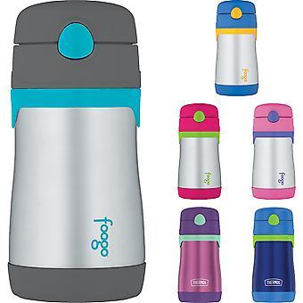 Termo térmica 10 oz. Kid's Inoxidável Aço Plástico A vácuo garrafa de água de palha isolada