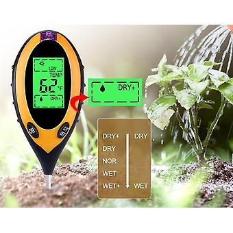 Digital Ph Meter Jord Fuktighet-monitor Temperatur Sollys Tester