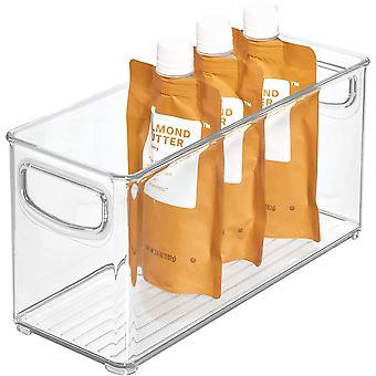 HanFei Aufbewahrungsbox fr die Kche, kleiner & tiefer Kchen Organizer aus Kunststoff, offen