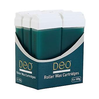 Lotions de cartouche de cire de rouleau DEO pour l'épilation à la cire - Arbre à thé - 100 ml - Paquet de 6