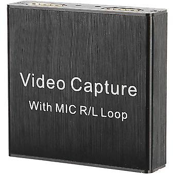 Wokex Audio-Video-Aufnahme, HDMI USB 2.0 4K 1080P 30fps Game Capture-Gerät, tragbarer
