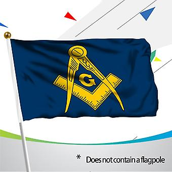 Masonic blue and gold flag - high quality and durable