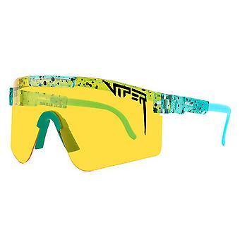 YANGFAN حفرة الافعى النظارات الشمسية المستقطبة للرجال النساء الرياضة نظارات ركوب الدراجات في الهواء الطلق