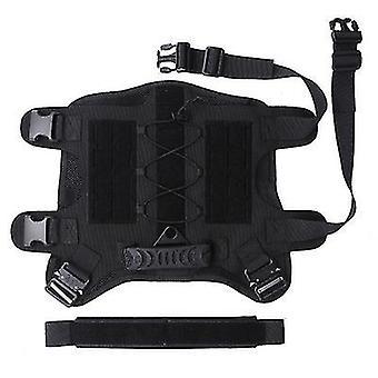 M zwarte tactische hond rugzak huisdier tactisch vest afneembare zakken x3029