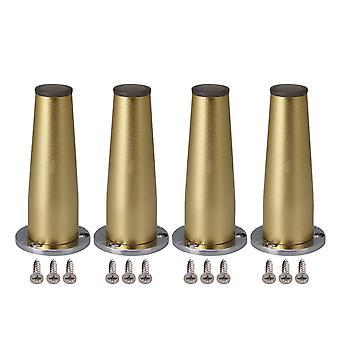 Para 4pcs Gold Ajustável Móveis Pernas TV Mesa Sofá Pés 10cm Altura WS6133