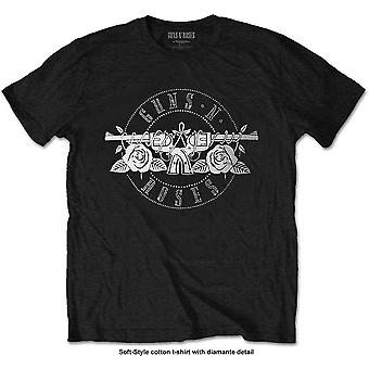 Guns N' Roses - Circle Logo Miesten XX-Large T-paita - Musta