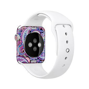 Das lebendige lila Paisley V5 Ganzkörper-Skin-Kit für die Apple Watch
