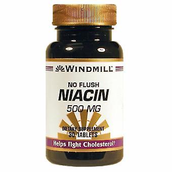 Windmill Health Niacin, 500mg, 30 Tabs