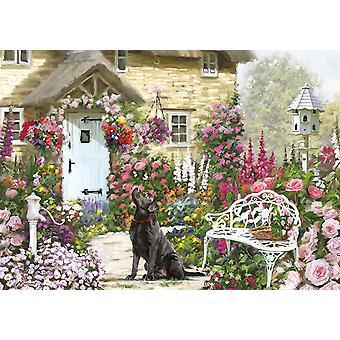 Otter House Cottage Garden Jigsaw Puzzle (500 XL Pieces)