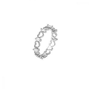 Heart-shaped Opening Sets Diamond-like Female Ring Fashionable And Sweet Temperament Delicate And Elegant All Match