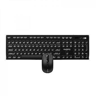 Bærbar computer,ultra slankt tastaturmuskombinationssæt (sort)