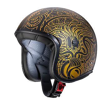 Caberg Freeride Maori / Motorcykelhjälm Matt Svart/Guld