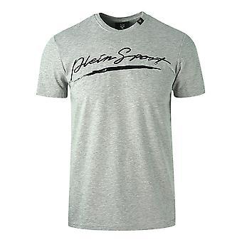 Philipp Plein Sport Signature Logo Grey T-Shirt
