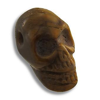 Gesneden Tiger Eye Gemstone schedel hanger 25mm 1 Inch