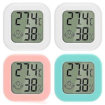 4-piece Mini Lcd Digital High-precision Thermometer And Hygrometer