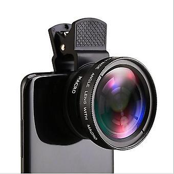 APL-0.45WM Universal 37MM 0.45x Super Wide Angle Lens with 12.5x Super Macro Lens BLACK