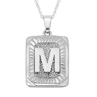 TJC Initial Alphabet M Halskette für Frauen aus Edelstahl
