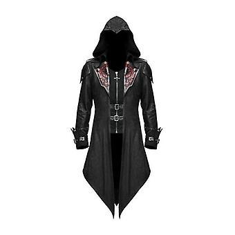 Venalisa Halloween Mittelalter Smoking Gothic Mantel Retro Nähte Mantel Kostüm