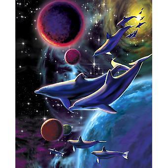 Dolphin vasen Variant 1 Juliste Tulosta, jonka Robin Koni