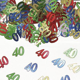 Table confetti number 40 Deco confetti birthday party