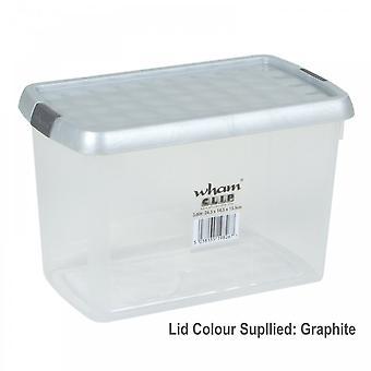 Wham Clear Clip Storage Box 850ml*^^