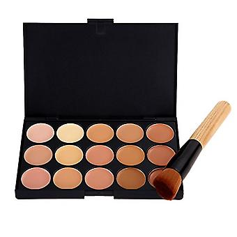 Boolavard 15 Colour Concealer Palette Kit Including Brush Face Makeup Contour Cream