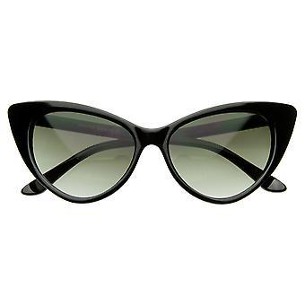 Super Cateyes-Vintage Inspired muoti Mod Chic korkea huomautti Kissansilmä aurinkolasit