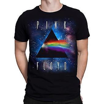 Liquid blue - pink floyd darkside space - short sleeve t-shirt .