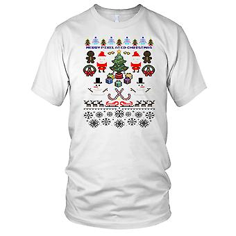 Pixelated Christmas barn T skjorte