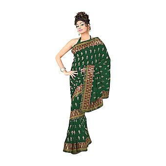 Bela Fancy festival wear designer Georgette Sari  saree