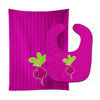 Carolines Treasures  BB9140STBU Beet Baby Bib & Burp Cloth