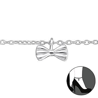 Bow-925 Sterling Silver anklets-W30319X