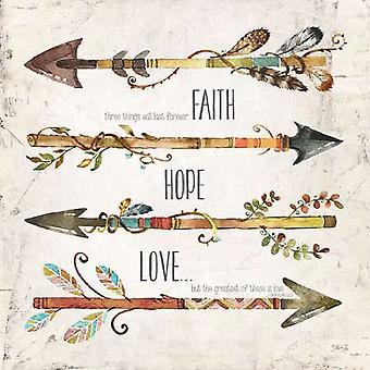 אמונה תקווה אהבה פוסטר הדפסה על ידי מרלה ריי (12 x 12)