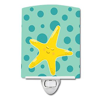 Carolines Treasures  BB8841CNL Beach Starfish Ceramic Night Light