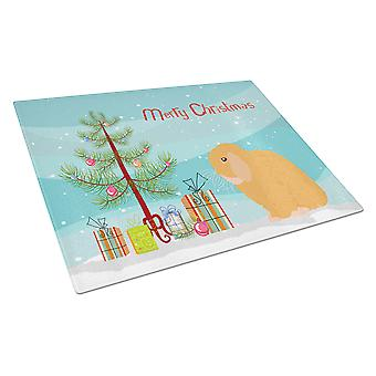 Holland Lop Rabbit Noël verre planche Large
