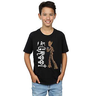 マーベル男の子アベンジャーズ無限大戦午前 10 代グルート t シャツ