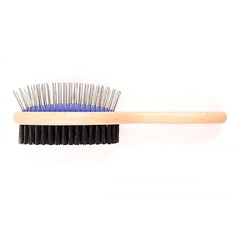 Ancol Ergo Wooden Hand Double Sided Brush