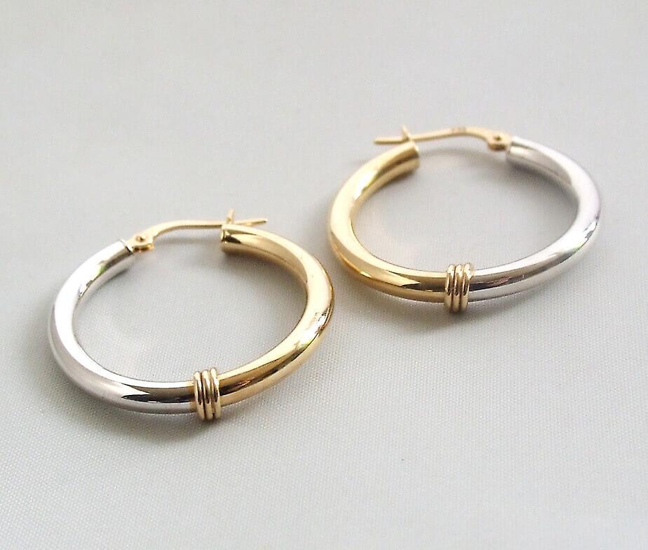 14 carat gold bicolor earrings