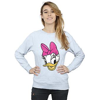 Disney Women's Daisy Duck Head Painted Sweatshirt
