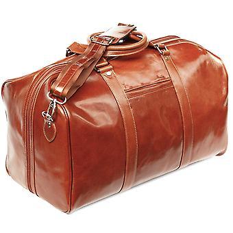 S Babila skinn Holdall hytte Bag overnatting helg tilfelle Duffel håndbagasje