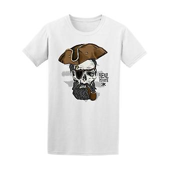Skull As A Real Pirate Tee Men's -Image by Shutterstock