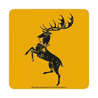 Game Of Thrones Coaster Baratheon House Sigil new Official Yellow