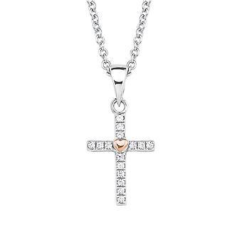 s.Oliver jewel children and teens necklace-silver cubic zirconia cross 2018528