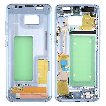 Midframe rám fotoaparát sklenené puzdro pre Samsung Galaxy S8 G950 G950F šedá/fialová