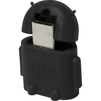 LogiLink USB 2.0 Adapter [1 USB 2.0 złącze Micro - 1 port USB 2.0 A-B] AA0062 z funkcją OTG
